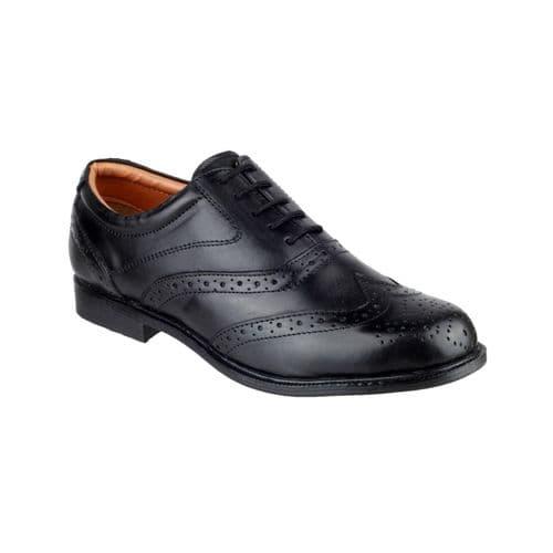 Amblers Liverpool Lace Mens Shoes Black